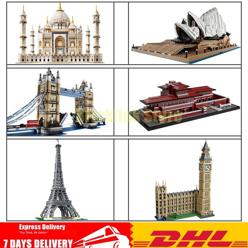 цена на LEPIN Taj Mahal 17001 17002 170003 17004 17005 17006 17007 17008 17011 Model Building Blocks Bricks Toys Birthday Christmas Gift