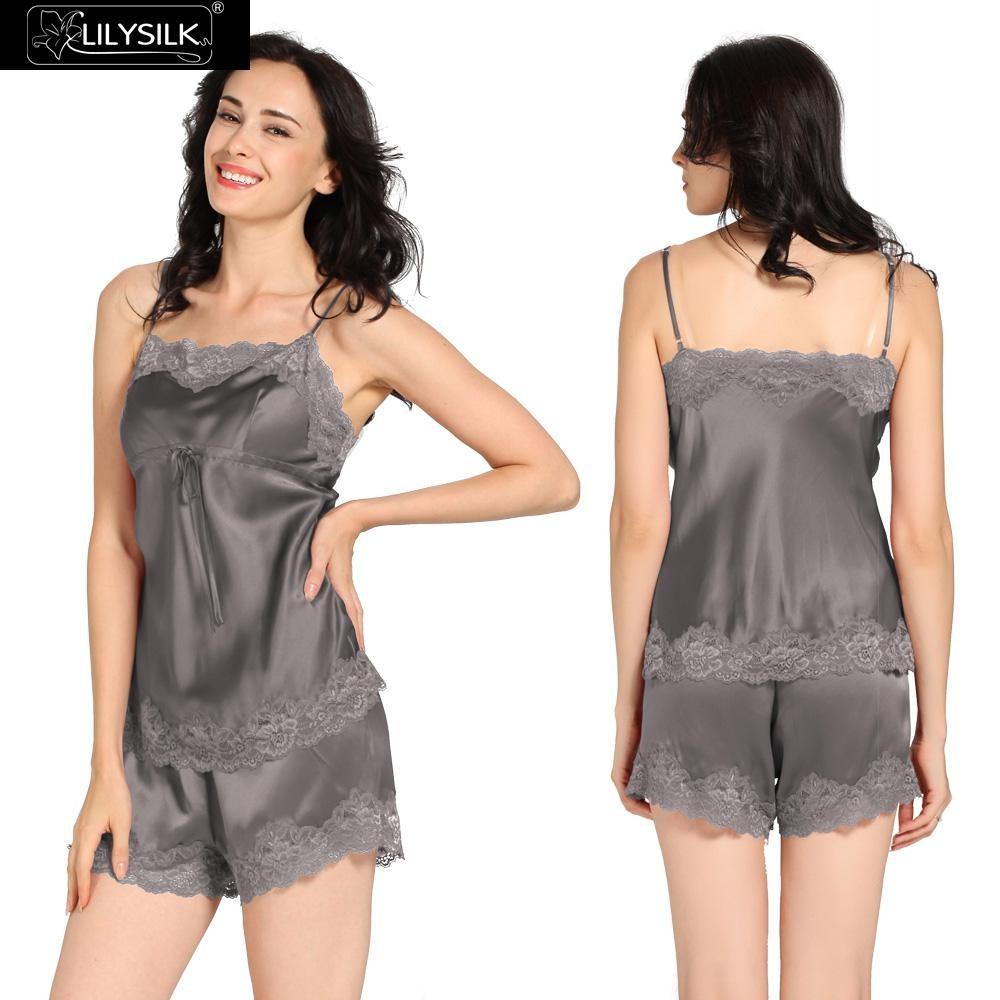 1000-dark-gray-22-momme-lace-trim-silk-camisole-set