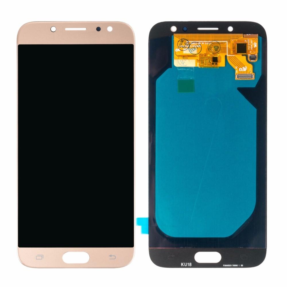 Pièces de rechange Super AMOLED LCD pour SAMSUNG Galaxy J7 Pro 2017 LCD J730 écran tactile numériseur assemblée OEM nouveau