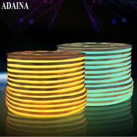 Plastic Covered Waterproof Led Strip Light AC220V Diode Tape RGB SMD2835 120 Chips M Warm Led
