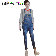 Fashion Holes Maternity Jeans Pants Jumpsuits For Pregnant Women Spring Maternity Clothes Pregnancy Clothing For Pregnant Women