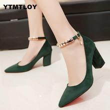 2019 Spring Autumn Women Pumps Sexy buckles High Heels Shoes