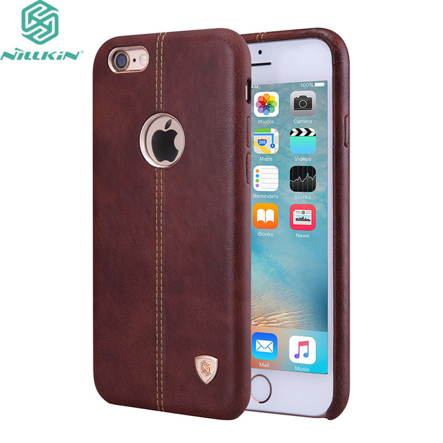 "Para apple iphone 6 6 s plus 5.5 ""case original nillkin cuero englon casos para iphone 6 6 s (4.7"") teléfono Contraportadas"