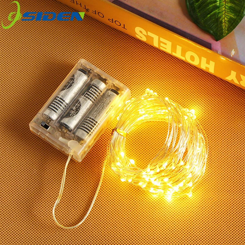 20 50 100 LED String Light Battery Lights Fairy Micro LED Copper Wire For Party Christmas Wedding Holiday Decoration Led Strip