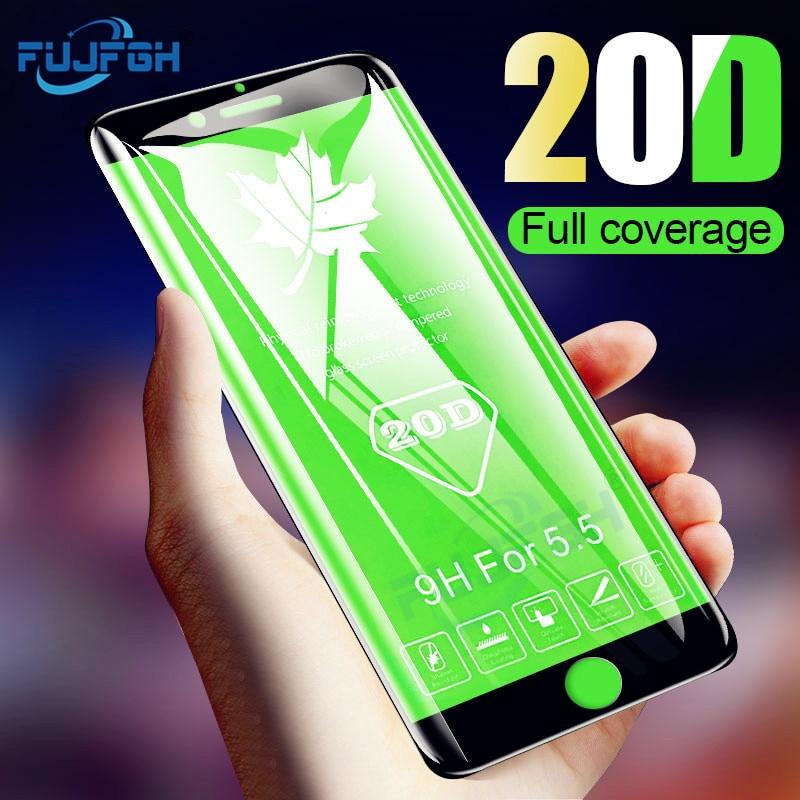 20d Gebogene Rand Vollen Abdeckung Schutz Glas Für Iphone 7 8 6 S Plus X Gehärtetem Screen Protector Für Iphone X Xs Max Xr Glas Film