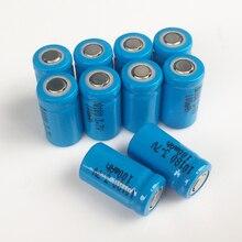 10 pcs 3.7 v 10180 리튬 이온 충전식 배터리 리튬 이온 셀 baterias pilas 100 mah led 손전등 디지털 장치에 대 한