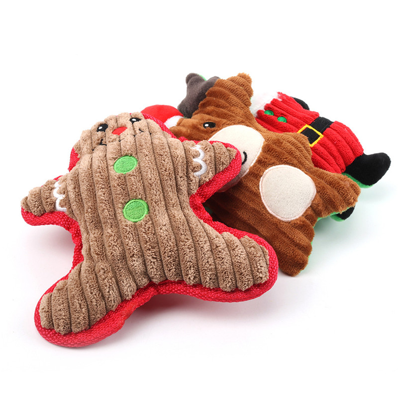 Pet Toys for Dogs with Grinding Teeth Plush Squeaker Soft Animal Interactive Cute aid Good Behaviour Birthday Party Favors Apr30 in Dog Toys from Home Garden