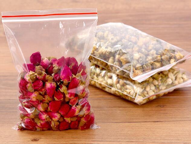 200PCS/set 15*10cm Clear Self Sealing bag Zip Lock Plastic Storage Bags Food Resealable Packaging Bag For Party