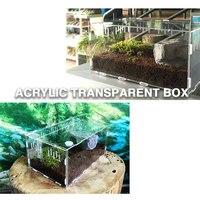 2018 Terrarium Reptile Box Terra Breeding Stackable Animal Transportation Incubating Gecko Lizard Reptile Terrarium Climb Box