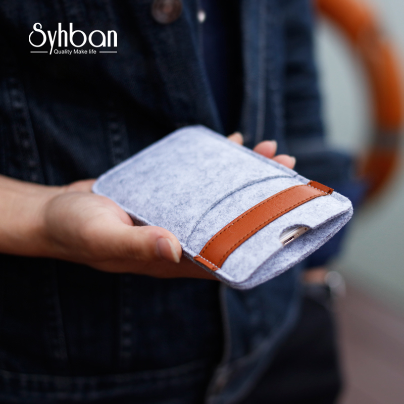 Mobile phone cover For iphoneX 5.5inch or For iPhone6s 7Plus bags Handmade iPhone pouch Wool Felt Wallet For iPhone5 5C SE