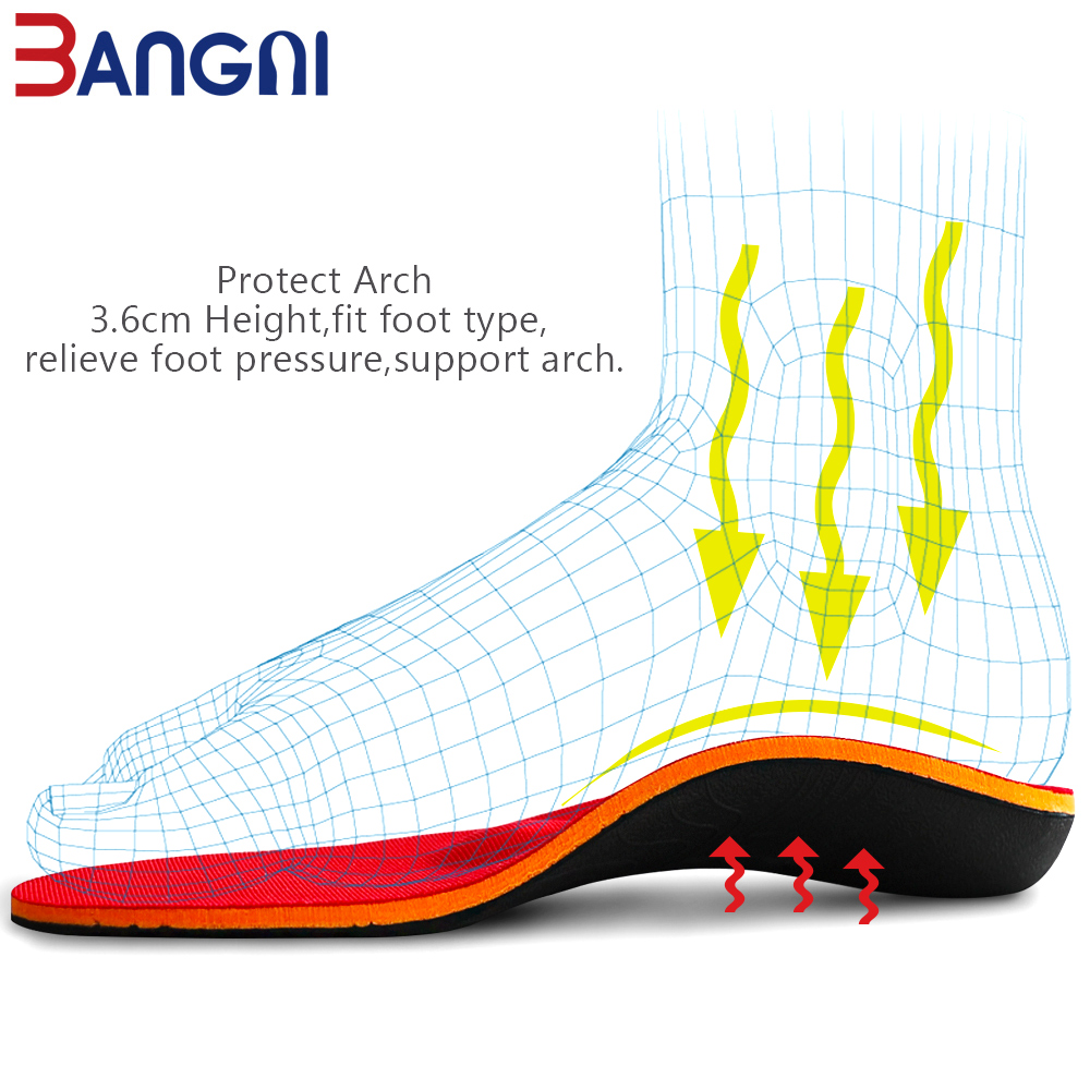 Image 3 - 3ANGNI Orthotic Shoe Insoles Arch Support Insert Orthopedic Moderate Flat Feet Heel Pain Plantar Fasciitis Men Woman Shoes SoleInsoles   -