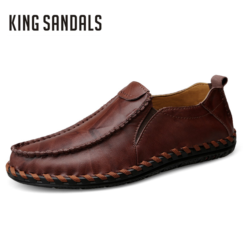 New Fashion Summer Spring Men Driving Shoe Loafers Real Leather Boat Shoes Breathable Male Casual Flats Loafers Men Casual Shoes  synthetic leather men shoes spring male casual shoes new 2017 fashion leather shoes loafers men s shoes flats zapatillas