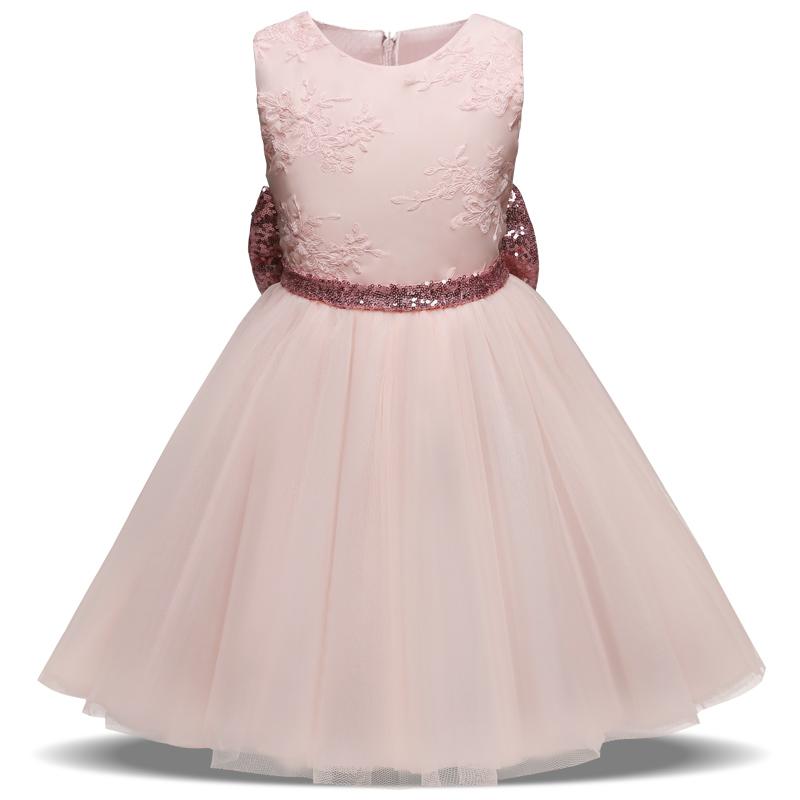 Glänzende Mädchen Party Kleid Baby 1 2 3 4 5 Jahre