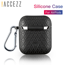 !ACCEZZ I7S Wireless Bluetooth Portable Earphone Case For Apple Airpods Protective Headset Cover Accessories With Keychain