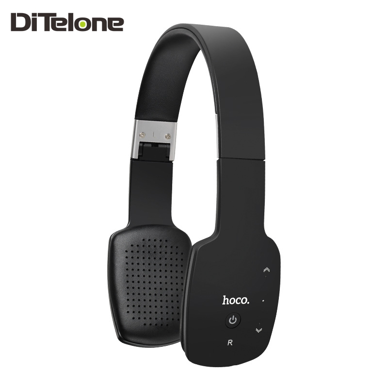 ФОТО HOCO W4 Bluetooth Headphones Wireless Headset Bass Stereo With Microphone HiFi Touch Panel Noise Cancelling Black White Blue