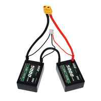 2pcs HRB RC Car Hardcase Lipo Battery 2S3P 7.4V 5000mah 30C Max 60C Battery Lipo Pack Hardcase ROAR B44