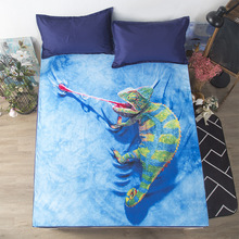 3D Digital printing Single product Bedding Double 1.5m/1.8m Skin-friendly washable Brushed Bed cover creative fitted sheet