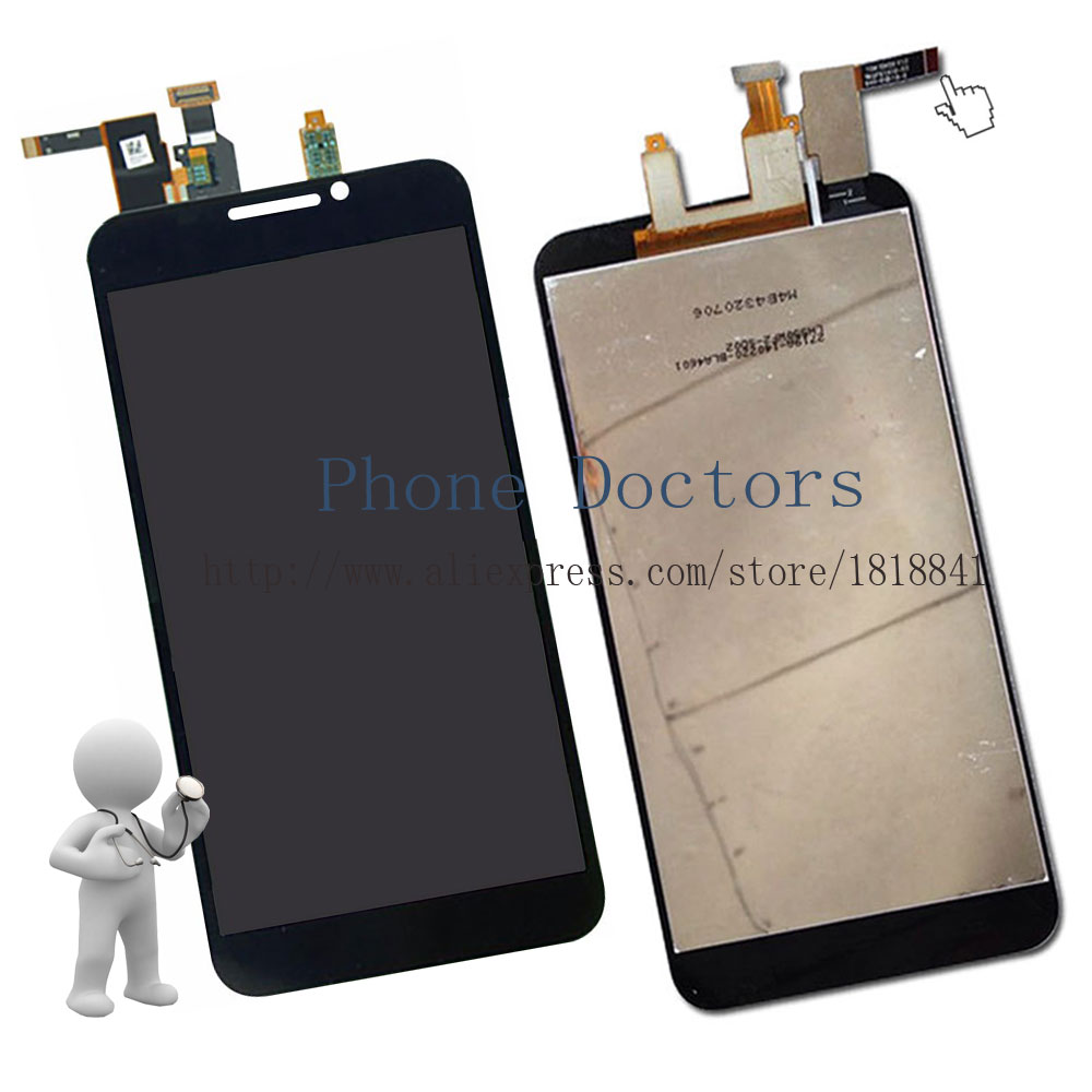 5.5'' Full LCD DIsplay + Touch Screen Digitizer Assembly For ZTE Grand S2 S251 S291 S252 S221 ; Black ; New ;100% Tested