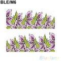 Hotbeautiful flor decalque transferência de água Manicure Nail Art Stickers dicas decoração 1UAW 2SIA 7CRO 8TN9