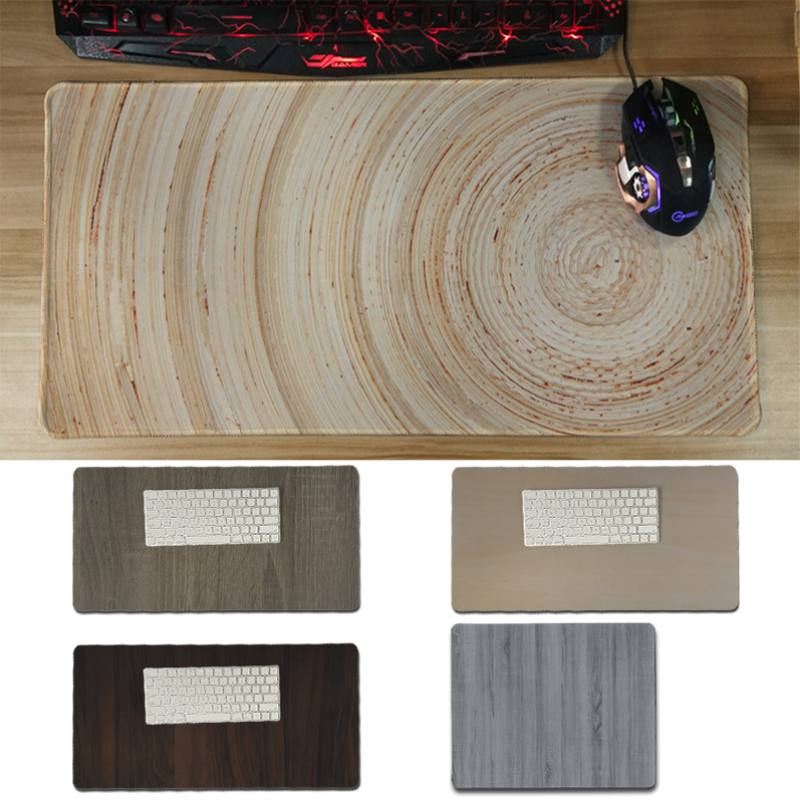 Yinuoda hot sale Wood Texture Laptop Computer Mousepad Size for 30x60cm and 30x60cm Gami ...