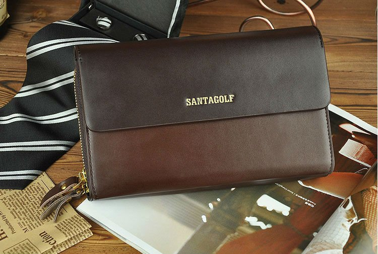 e670937d9 2013 fashion men business clutch bag, genuine leather men's wallets,  business card holder, passport holder, clutch card wallet-in Card & ID  Holders from ...