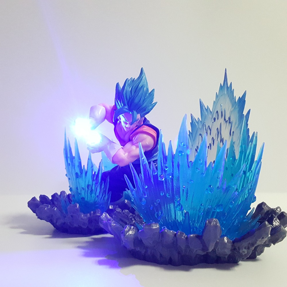 Dragon Ball Figure Vegetto Blue PVC Action Figures Super Kamehameha Anime Dragon Ball Super Figurine Goku Vegeta Fusion DBZ