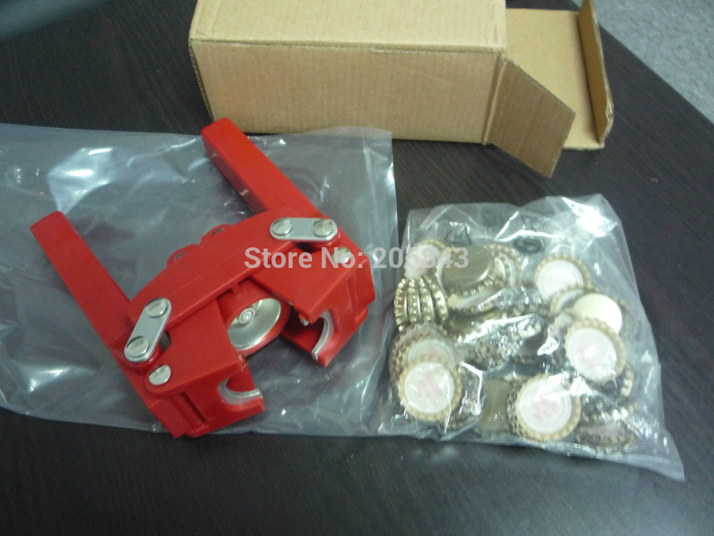 BOTTLE CAPPER BEER BOTTLE CAP CAPPER + 50 PCS BEER BOTTLE CAPS