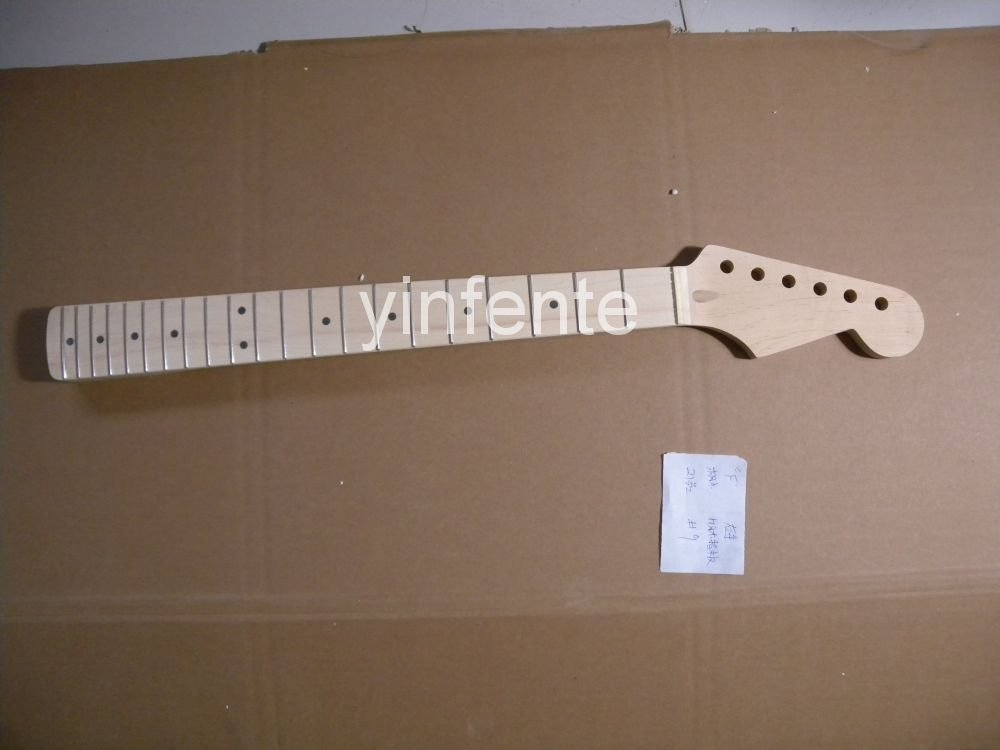 New High Quality Unfinished electric guitar neck Solid wood Body &  fingerboard    model 1pcs #9