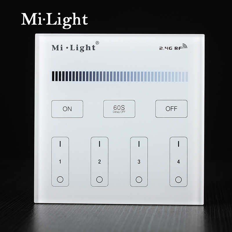 Milight T1 AC220V 4-Zone Brightness Dimming Smart Panel Remote Controller led dimmer for led strip light lamp or bulb