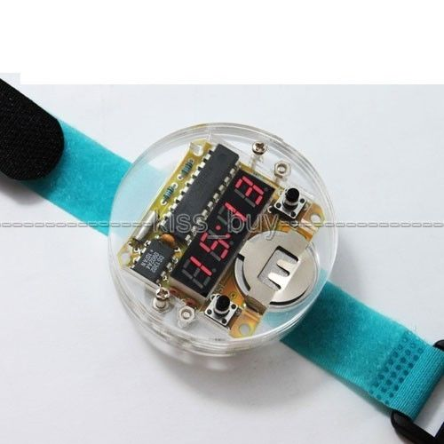 Permalink to Digital Tube DIY kit LED Digital Watch Electronic Clock Kit Microcontroller MCU watch With Transparent Cover TIME Wristwatch