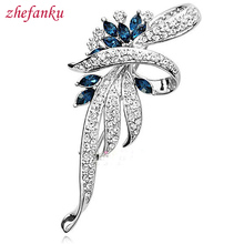 2017 Fashion Crystal Flower Brooch  Pin Fashion  Rhinestone Jewelry Women Wedding  Pins Large Brooches For Women