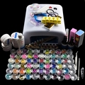 New Pro 36W White Lamp & 66 Color UV Gel Powder Nail Art Tools Polish Set Kit