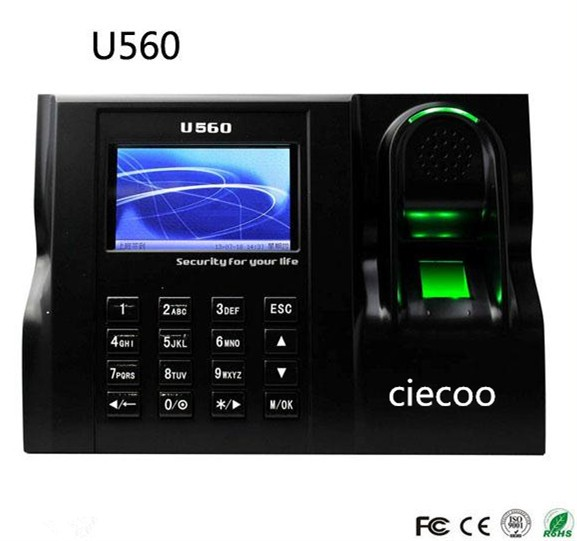 Linux system 3inch color screen TCP/IP fingerprint / ID card time attendance time clock time recorder U560
