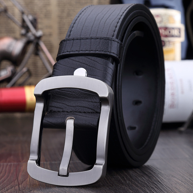 High Quality Brand Style 2017 Fashion men belt luxury genuine leather belts for men casual belt male meatal buckle free shipping