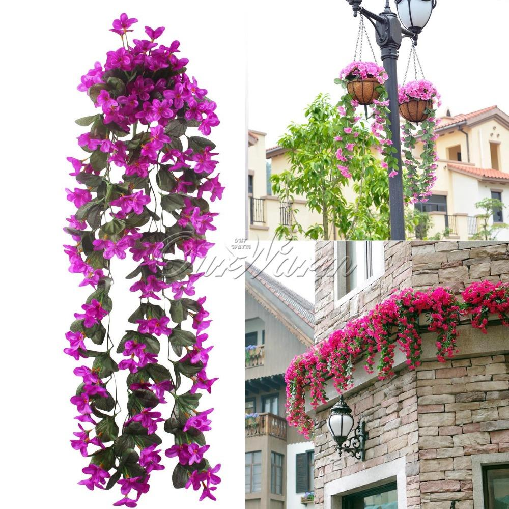 Romantic artificial flowers hanging orchid fake flower for Artificial flower decoration for home