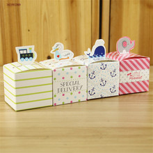 Фотография 50pcs Animals Design 4 Color Mix Candy Box Paper Bag Gift Box For Baby Shower Kids Birthday Party Favors Event Party Supplies