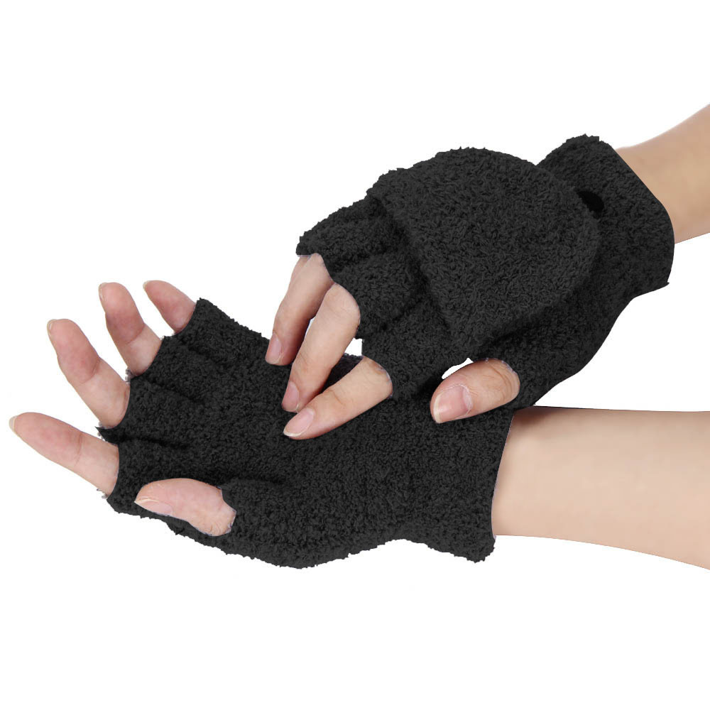 Hand Warmer Winter Gloves Women Soft Plush Mittens Fashion ...