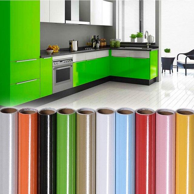 Waterproof Self-adhensive Wallpaper Furniture Desktop Wardrobe Roll Wall Sticker Kitchen Decor Vinyal Wall Decal Home Decoration