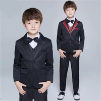 New High quality fashion baby kids blazers suit for prom daily Casual Single Breasted boy's suit flower cool boy Casual Set