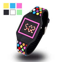 JOYROX LED Watch Kids Jelly Color Digital Child Watches New Touch Screen Rubber Children Watch For Boy Girl Student Go to School