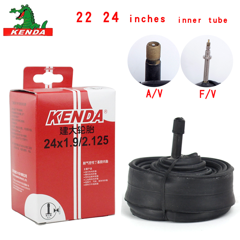 Kenda Bicycle Inner Tube 22 inches <font><b>24</b></font>*1-3/8 1.25 1.5 1.75 1.9 AV FV <font><b>BMX</b></font> foldable Bike Tire Cycling rubber Tire Rubber Tube Parts image