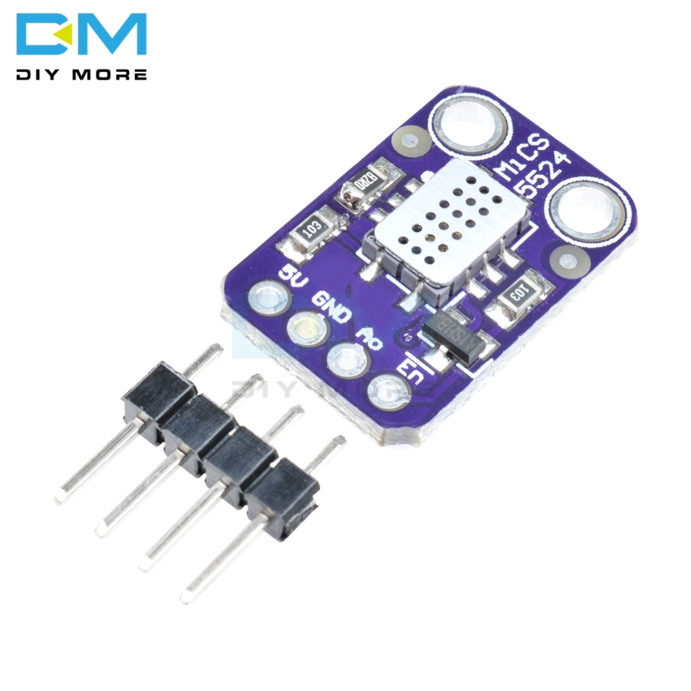 MICS-5524 Air Quality Gas Sensor Module Carbon Monoxide Hydrogen Methane Ethanol H2 CO MICS5524 Detection Module Board DC 5VMICS-5524 Air Quality Gas Sensor Module Carbon Monoxide Hydrogen Methane Ethanol H2 CO MICS5524 Detection Module Board DC 5V