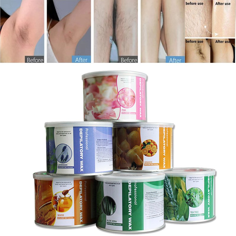 New 400g/can Professional Soft Warm Depilatory Wax Hot Hard Film Waxing Body Leg Bikini Hair Removal Cream Pot For Spa Salon Use
