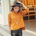 2017 весной новые женские нерегулярные золотой иглы кашемировый свитер рубашку свитер женщин Повседневная ткань досуг