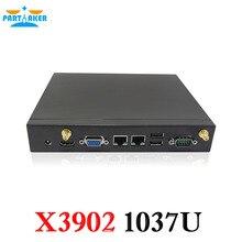 Partaker X3902 Mini PC Dual Nic С 3 Г Слот Sim-карты COM Порт Intel Celeron 1037U Dual Core 1.8 ГГц процессор