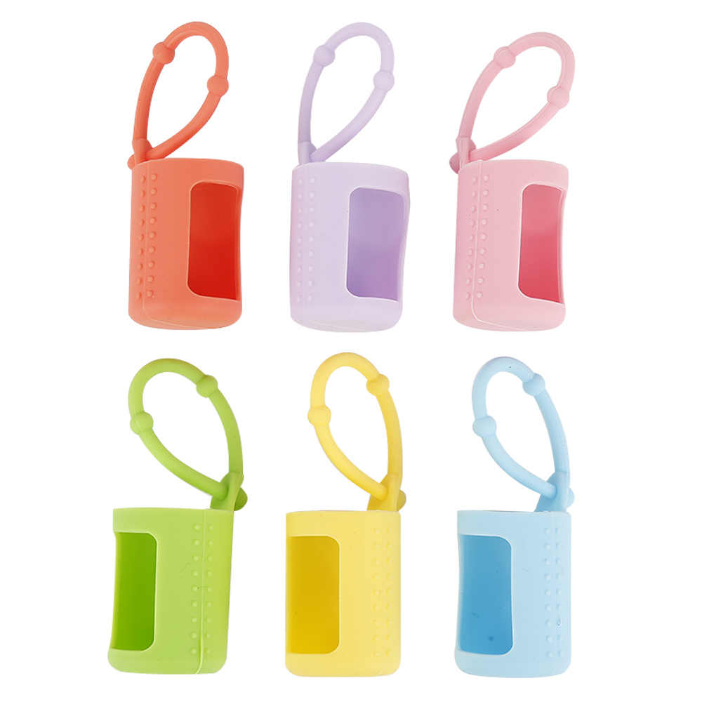 6 Pieces Silicone 5ml/10ml/15ml Roller Bottles Holders Sleeves Essential Oil Case Protector Blue Pink Purple Green Yellow Orange