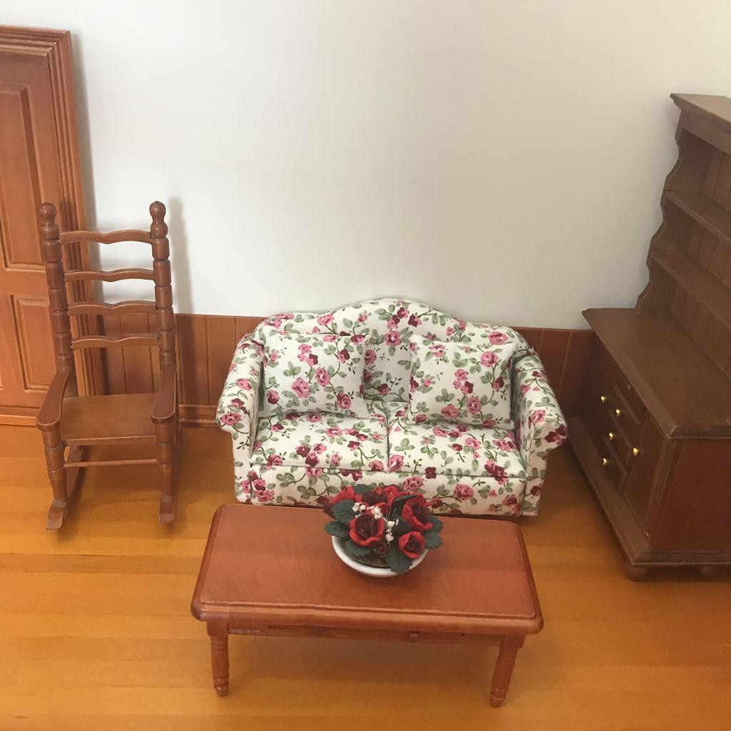 Горячая Распродажа мини кукольный домик с мебелью игрушки цветок диван 13,5*6,3*6,6 см диван + 2 подушки для кукольных домиков ролевые игры аксессуары