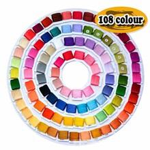 36 50 72 108 kolory bawełniane nici do haftu nici do haftu krzyżykowego zestawy do haftu pokładzie dla początkujących do szycia akcesoria do narzędzi tanie tanio Barwione 300g Poliester bawełna Muliną Tkania FB037 Spun Ekologiczne