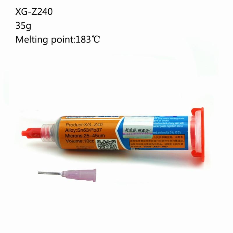 Low Temperature SMT Melting Point XG-40 PGA PCB Paste Soldering Tin Cream Grease Lead-free BGA Solder Paste Flux Repair Tool