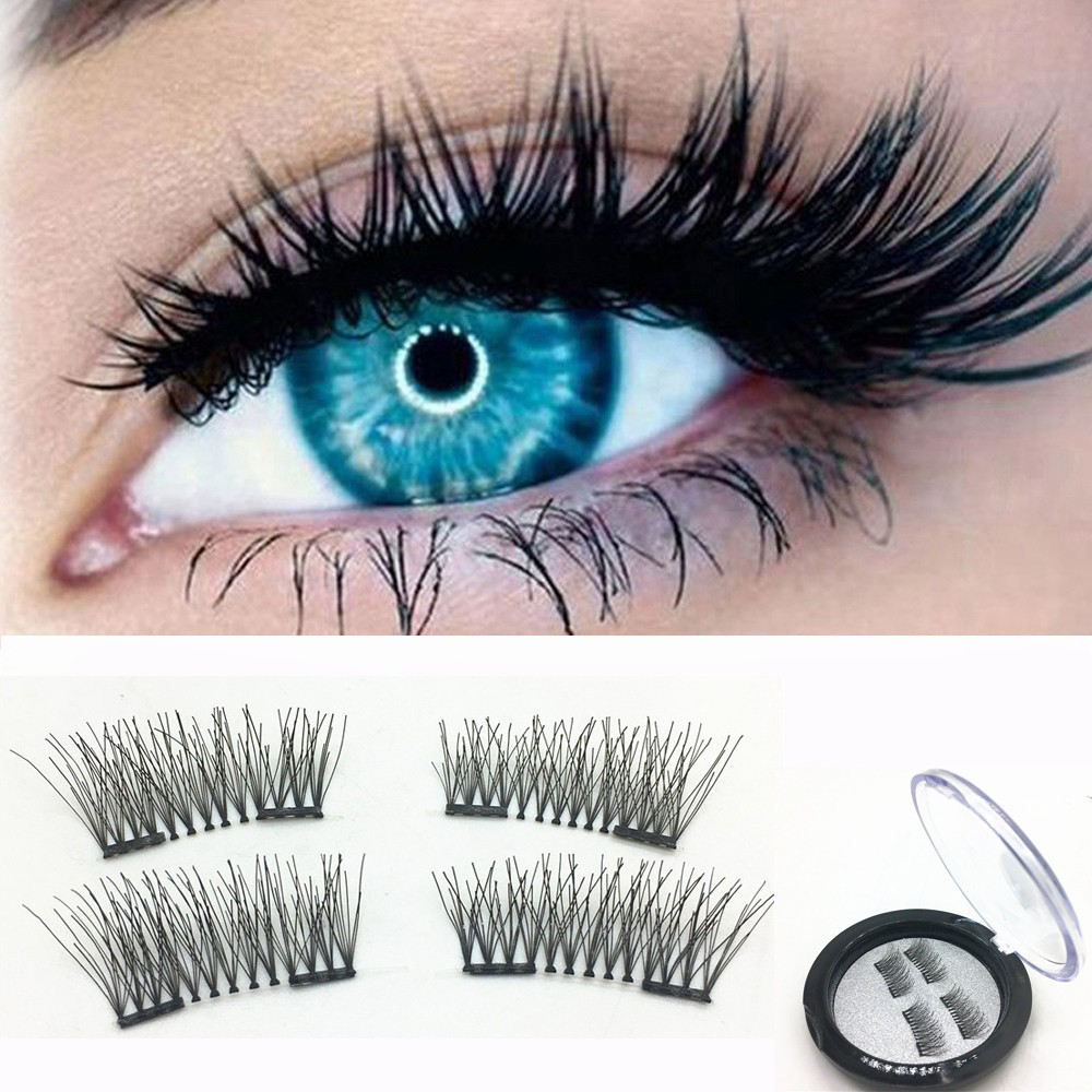 ISHOWTIENDA 1 Pair 3D Magnetic False Eyelashes Lashes Reusable Magnet  Cheap Maquiagem Eyelashes Cilios Posticos Dropshipping 5